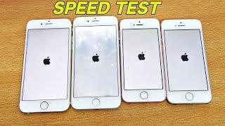 iPhone 6S vs SE vs 5S vs 6 - Speed Test! (4K)