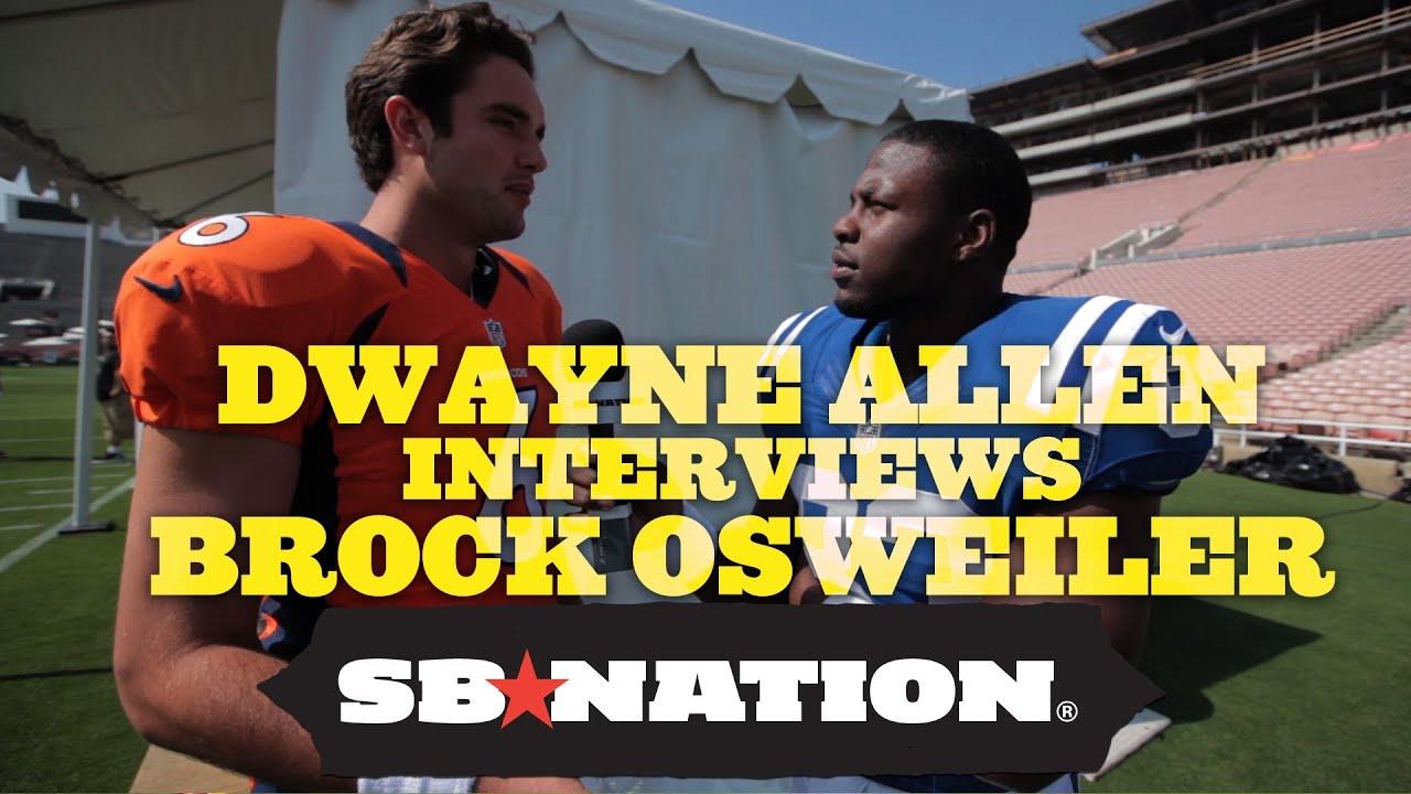 Colts' Dwayne Allen Interviews Broncos' Brock Osweiler thumbnail
