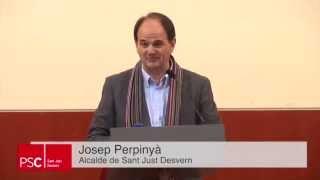 preview picture of video 'Proclamació del candidat del PSC de Sant Just Desvern a l'alcaldia: Josep Perpinyà'