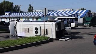 В Донецке в результате ДТП травмированы десять пассажиров автобуса