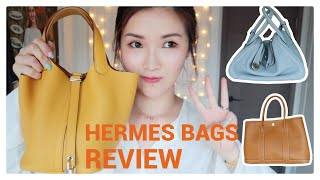 我的三個愛馬仕包包💛My Hermès bags collection | Lindy | Garden Party | Picotin | cheerS beauty 【中字】