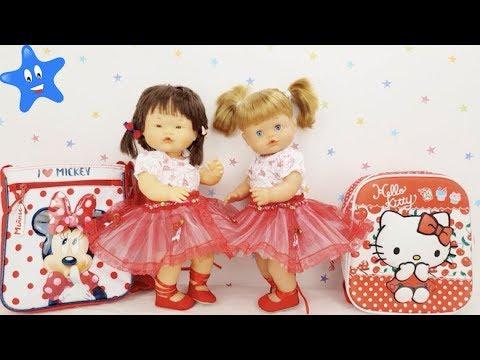 Ani y Ona Nenuco ESTRENAN mochilas y trajes de BALLET con muchos accesorios Ksi Bebés