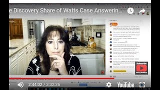 #MommyRamblingsBlog Live Discovery Share of Watts Case Answering Question and Debunking Myths