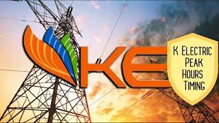 K Electric Peak Hours Timing - SabKuchSeekho