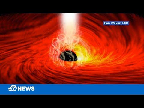 Licht aan de achterkant van een zwart gat