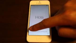 iPhone5の全データ消去からアクティベーションまでiOS7