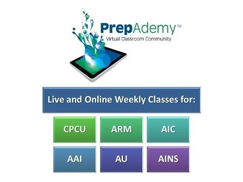 PrepAdemy Online Classes for CPCU, ARM, AIC, AINS, AU and AAI ...