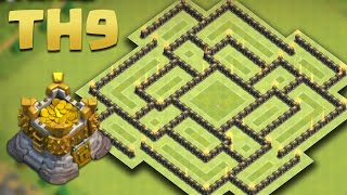 Clash of Clans - Town Hall 9 (TH9) Hybrid Base [The Funnel] July 2016 + Replays