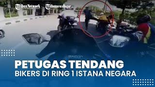 Viral Video Petugas Tendang Bikers yang Geber Knalpot di Ring 1 Istana Negara, Ini Kata Paspampres
