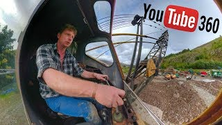 Operating a Dragline, 360 Degree Video