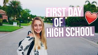 My First Day of High School!