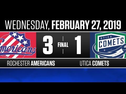 Americans vs. Comets   Feb. 27, 2019