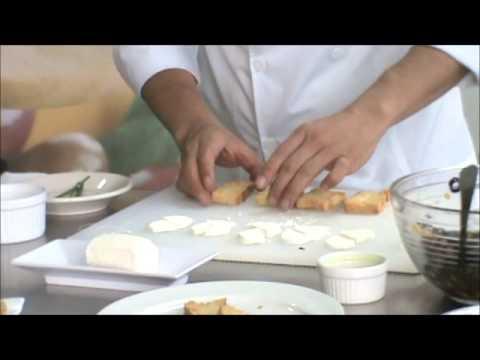 Chef Omar Sandoval   Montaditos Queso de Cabra