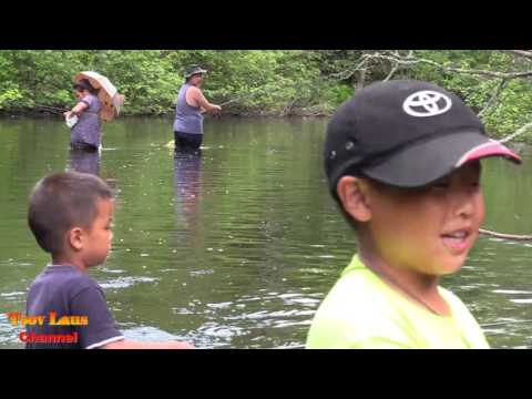 Hmong American's Go Fishing & cook Fish 2017 Pt 2