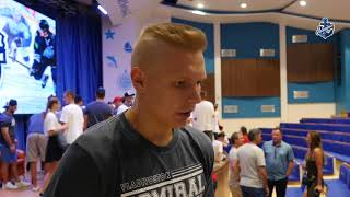 Пообщались с нашим новичком, защитником Кириллом Дьяковым