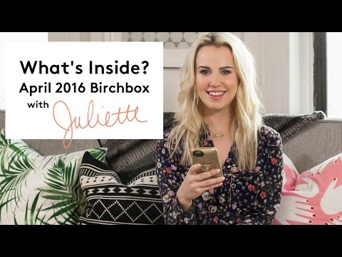What's Inside? April 2016 Birchbox with Juliette