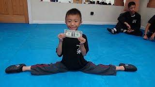 Kung Fu Kids - Jumping Middle Split Challenge
