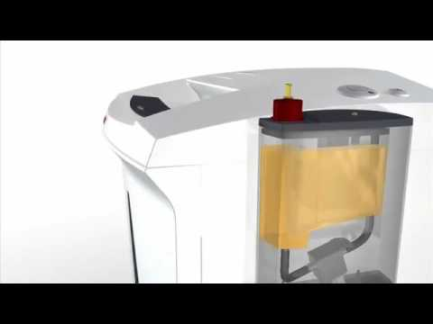 Video of the HSM SECURIO B22 CC-4 Shredder