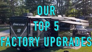 ✅ Top 5 Toy Hauler Factory Upgrades  | Grand Design Momentum | Changing Lanes!