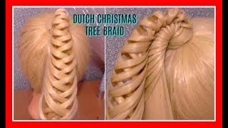 DUTCH CHRISTMAS TREE BRAID HAIRSTYLE / HairGlamour Styles /  Braids Hair Tutorial