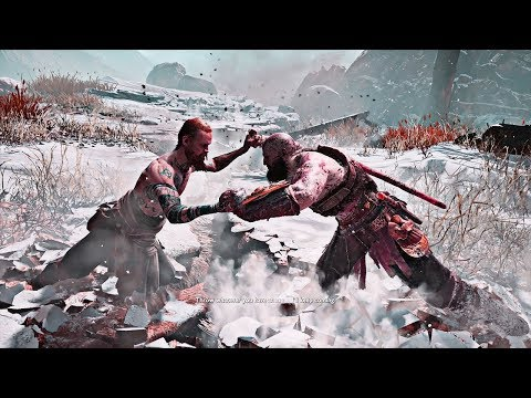 "God of War - Kratos Fighting ""The Stranger"""