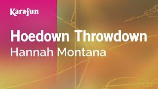 Karaoke Hoedown Throwdown - Hannah Montana *