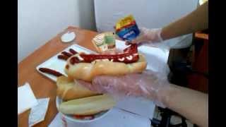 Смотреть онлайн Рецепт домашнего хот дога с французской булочкой