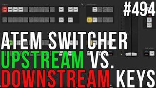 ATEM Switcher: Upstream & Downstream Keys