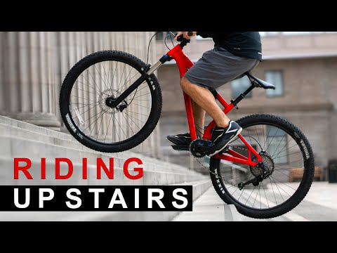 Learning to Ride a Bicycle Up Stairs