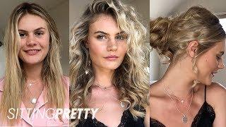 How To Create Heatless Overnight Curls + Messy Bun Tutorial | Sitting Pretty