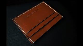 FREE PATTERN + EASY TO MAKE CARD HOLDER V2 - ASMR SOUDNS LEATHER CRAFT
