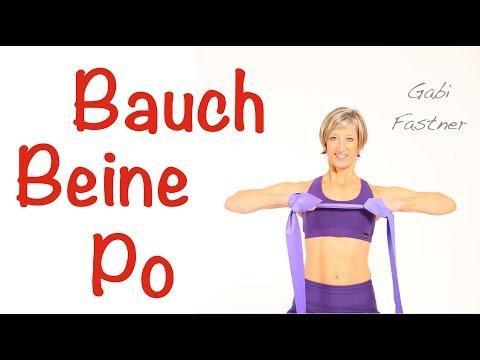 20 min. Bauch Beine Po mit dem Gymnastik-Band