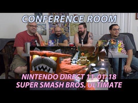 Conference Room: SSBU Nintendo Direct 11-01-2018 (FULL) (видео)