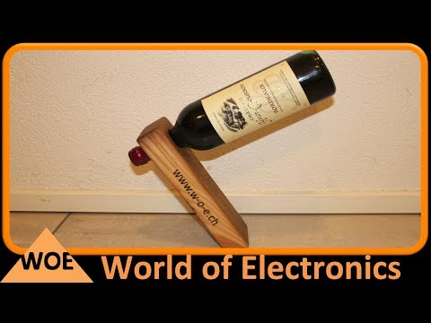 Weinflaschenhalter aus Holz - diy wine bottle holder in wood