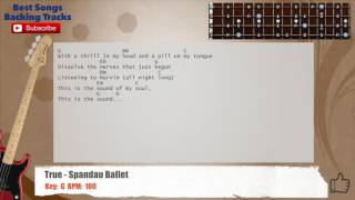 True - Spandau Ballet Bass Backing Track with chords and lyrics