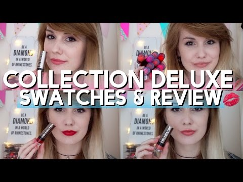 Collection Deluxe Lipstick Swatches + Review // MissBeautyEmily