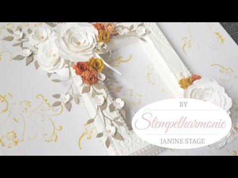 Dekoration Bilderrahmen gestalten | Hochzeit | Podukte von Stampin Up, Spellbinders, Memorybox