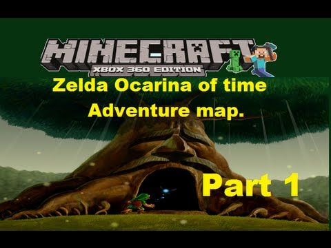 MineCraft xbox 360 edition: Zelda Ocarina of time adventure map - Part 1