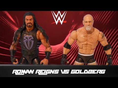 Roman Reigns vs. Goldberg: Action Figure Showdown (видео)