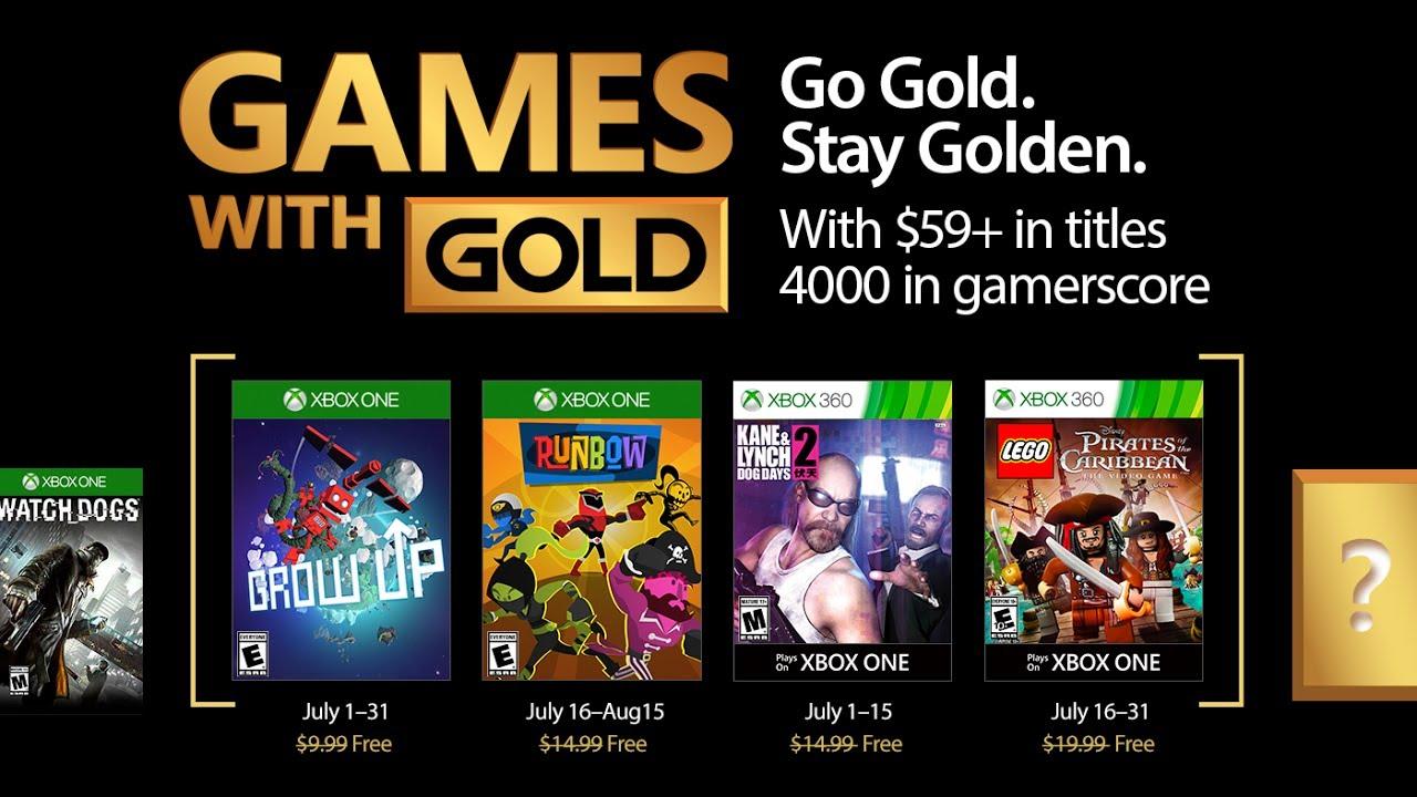 Grow Up Y Kane Lynch 2 Entre Los Juegos De Games With Gold De Julio