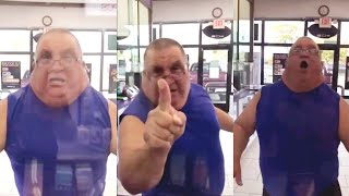 Male Karen With No Neck Meltsdown At Cellphone Store