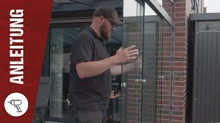 So montierst Du eine Glasschiebewand  I  www.steda-online.de