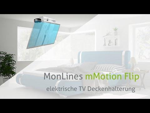 MonLines mMotion Flip elektrische TV Deckenhalterung