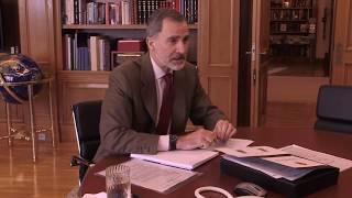 Vídeo conferencia de S. M. el Rey con el Consejo Agrario de Extremadura