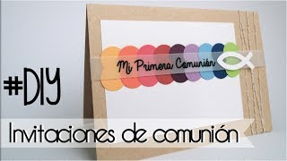 COMUNIÓN: Invitación arcoiris - rainbow first communion invitation