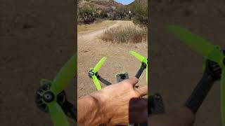 DJI FPV NAZGUL5 making it home with two missing blades on 2 props.
