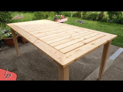 #1 Gartentisch aus Massivholz (Lärche) selber bauen |  So gehts! | Lets Bastel