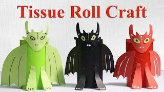 Tissue Roll Dragon Monster DIY | Cardboard Tube Crafts For Kids | Tissue Roll Recycling