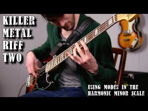 A lesson on writing metal riffs using modes of the harmonic minor scale. Don't know what any of that means? Watch the video to find out!