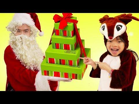 Bingo| Emma Pretend Play Singing Nursery Rhymes + Christmas Santa Kids Songs